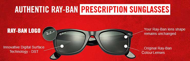 Authentic Ray-Ban Prescription Sunglasses Lenses